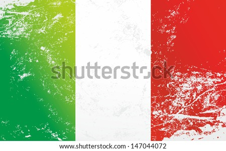 Raster version of a light grunge effect flag of Italy. Vector file is also available in my portfolio.