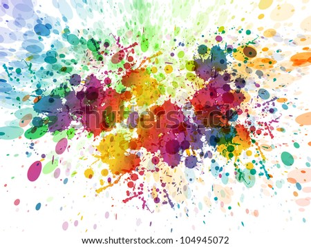 raster version of Abstract colorful background. Splash watercolor background illustration - stock photo