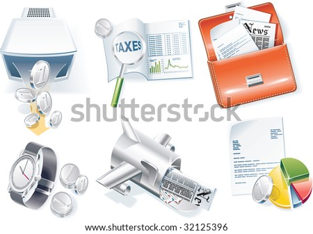 raster version of business icon set. Part 2 - stock photo