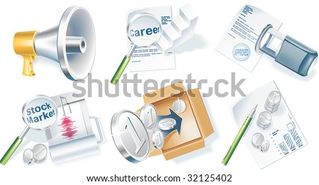 raster version of business icon set. Part 4 - stock photo