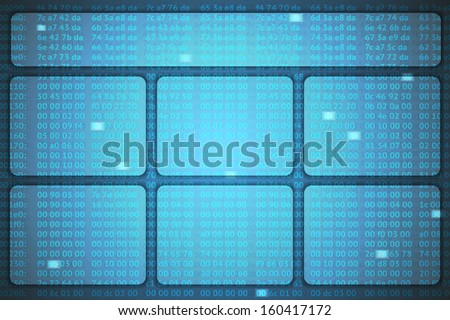 raster version of creative hex codes background - stock photo