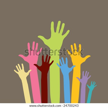 raster version of happy volunteering hands - part 2