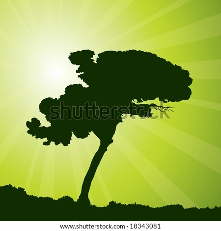 raster version of nature background (vector available in my gallery)