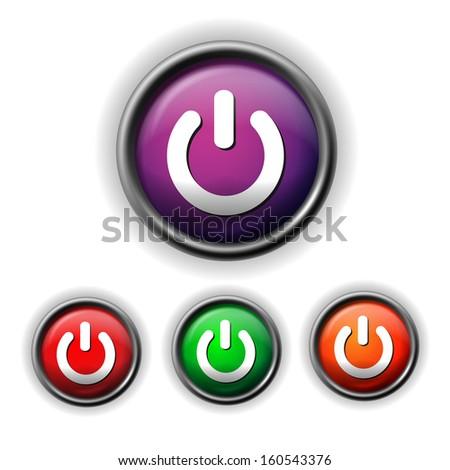 raster version of power icon - stock photo