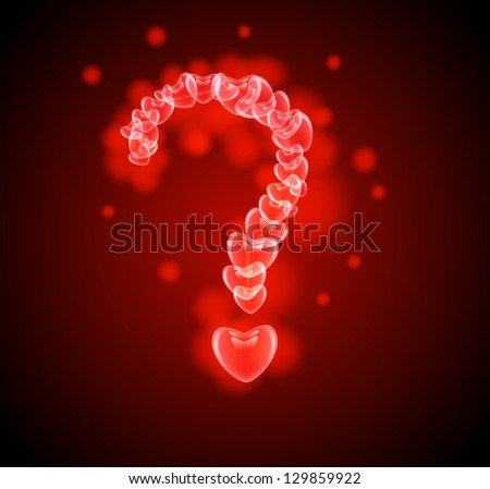 raster version of question mark in the hearts