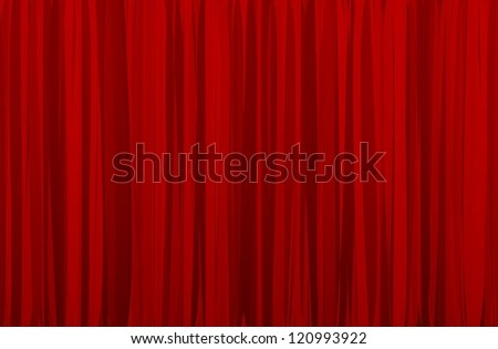 raster version of red curtain - stock photo