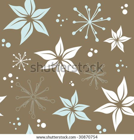 raster version of seamless pattern with flowers