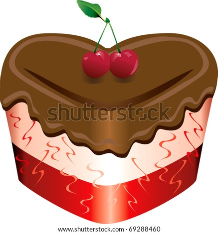 Raster version of Valentine or romantic sweets. - stock photo
