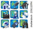 Raster version of vector set of blue website and internet icons 2 - stock photo