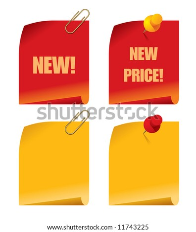 Raster version of vector set of price tags - stock photo