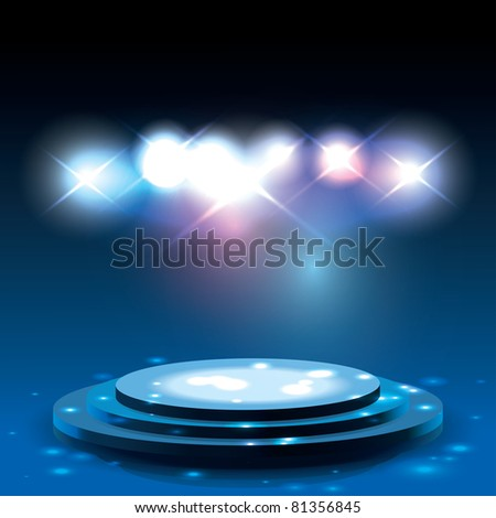 Raster Version of Vector Stage with Sparkles - stock photo
