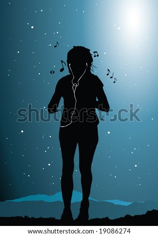 raster version of woman jogging (vector available in my gallery)