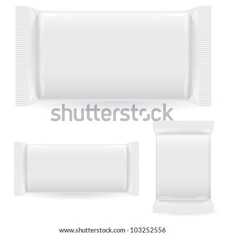 Raster version. Polipropilen package. Illustration on white background - stock photo