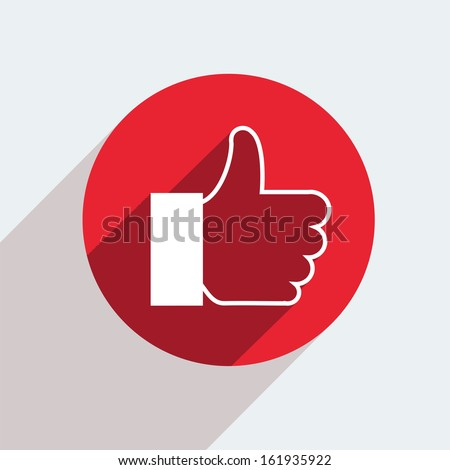 raster version. red circle icon  on gray background - stock photo