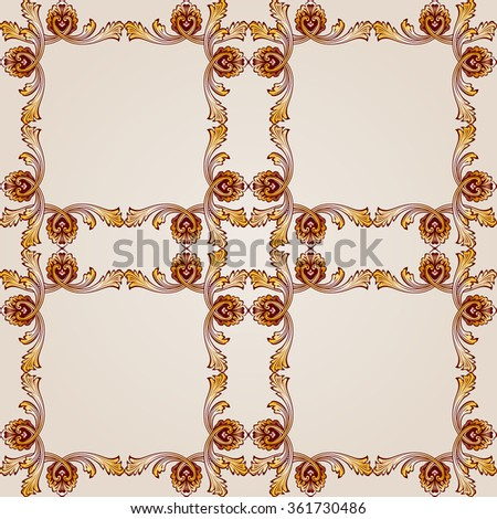 Raster version. Seamless abstract floral pattern in the form of ornate mesh - stock photo