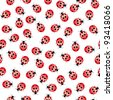 Raster version. Seamless ladybug pattern. Illustration of a designer on a white background - stock photo