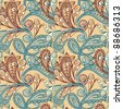 raster version seamless paisley background - stock photo
