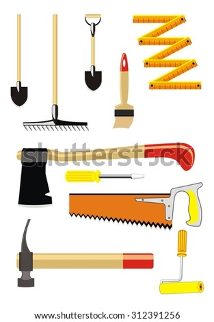 raster version  set of diy icons