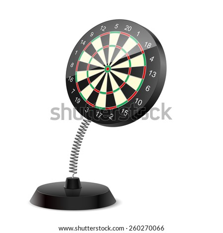 Raster version. Souvenir at the spring in form darts on the white background  - stock photo