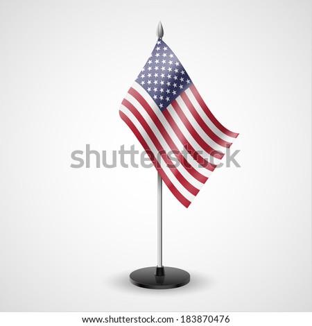 Raster version. State table flag of USA. National symbol   - stock photo
