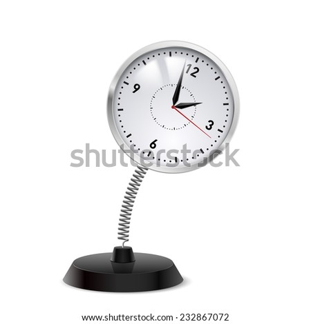 Raster version. Table souvenir in form of clock on spring  - stock photo