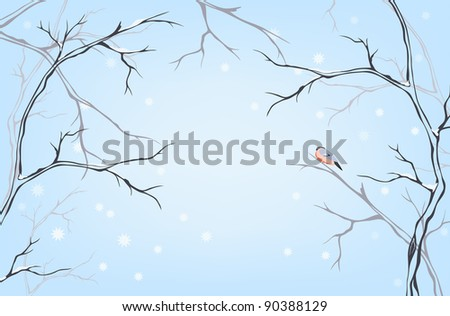 raster - winter background with place for your text (vector version is available in my portfolio)