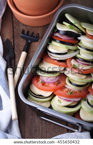 Ratatouille of vegetables