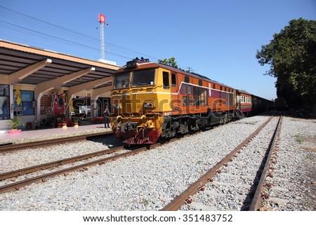 RATCHABURI province., THAILAND - January 12, train station Photaram.  - stock photo