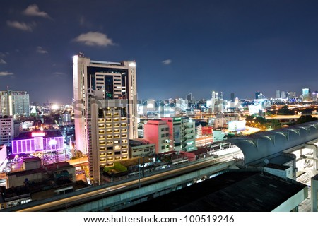 Ratchaprarop Airport Link Station.Bangkok Thailand. - stock photo