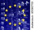 Rating EURO - stock photo