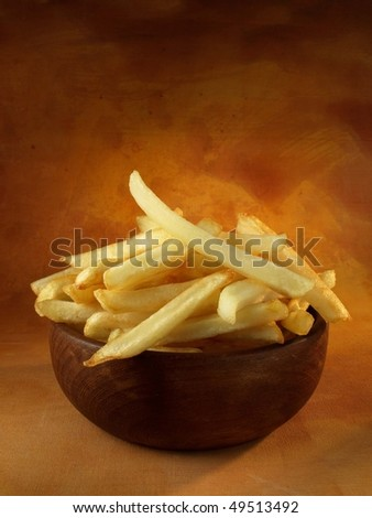 Ration of potato chips - stock photo