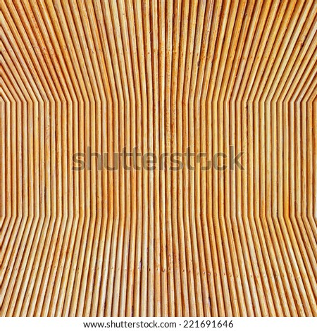 Rattan wall background - stock photo