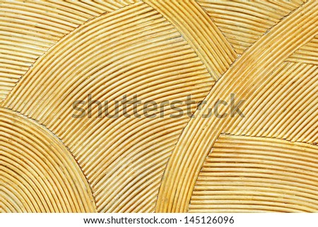 Rattan wall Decorate background - stock photo