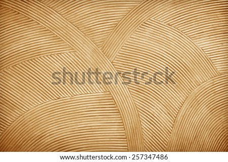 Rattan wall decorative background - stock photo