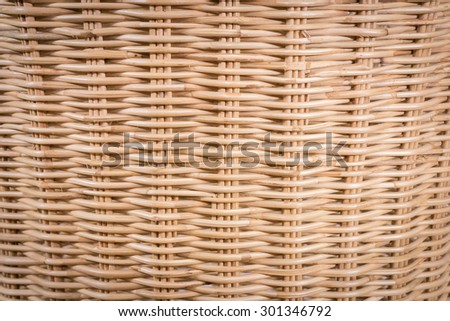 rattan weave background, natural art and tool - stock photo
