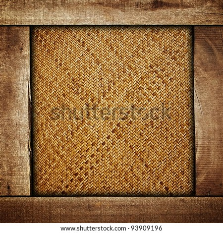 rattan with wood frame - stock photo