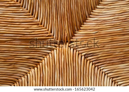 Rattan woven pattern detail for Texture or background