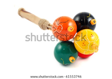 Rattle Turkish close up on a white background - stock photo
