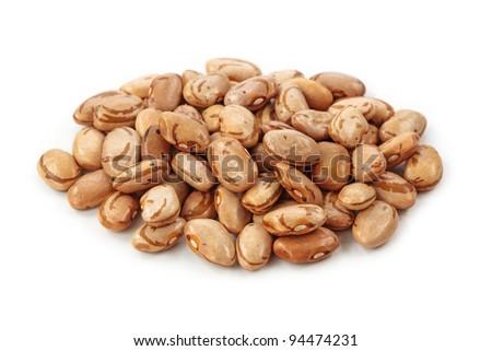 Rattlesnake beans isolated on white background - stock photo