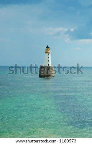 Rattray Lighthouse Scotland - stock photo