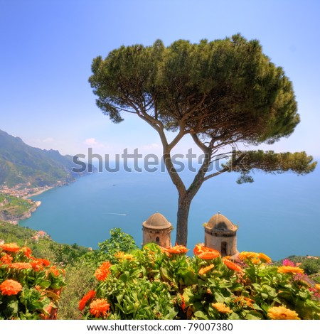 Ravello, amalfi coast, naples, italy, hdr - stock photo