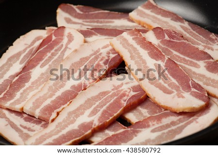 Raw bacon - stock photo
