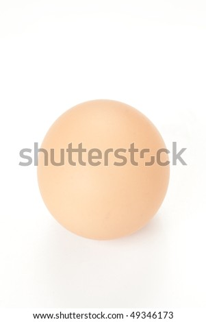 raw brown egg isolated over white background