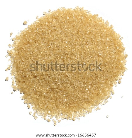 Raw brown sugar from sugar cane - stock photo