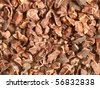 Raw cacao nibs; close-up; can be used as a background - stock photo