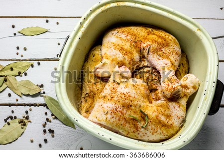 raw chicken flavored - stock photo