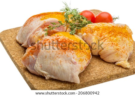 Raw chicken thigh - ready for cooking