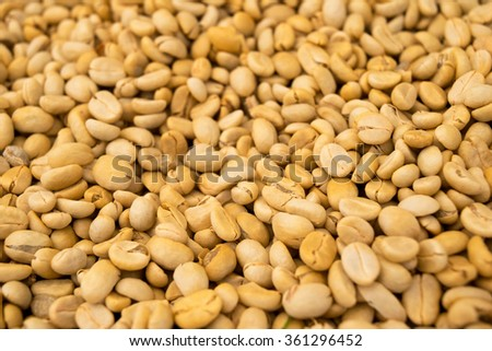 Raw coffee beans (Not roasted) abstract background textures