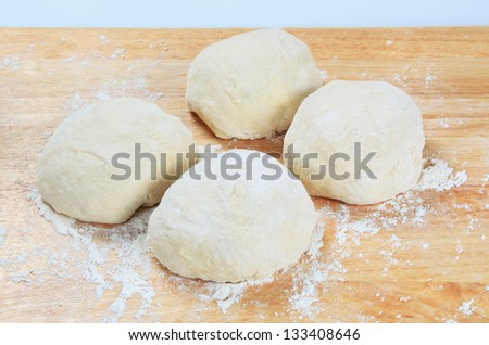 Raw dough for baking