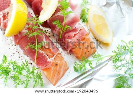 Raw fish  - stock photo